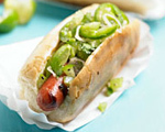 Chilean-Style Hot Dog with Spicy Avocado Relish