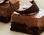 Chocolate and More Chocolate Cheesecake Bars