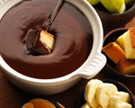 Chocolate Caramel and Almond Fondue