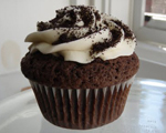 Chocolate Jell-O Cupcakes Topped with Crushed Oreo Cookies