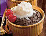 Low-fat mocha pudding cakes