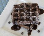 Chocolate Waffles with Chocolate Maple Syrup