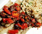 Cod with Tomato, Olive and Caper Tapenade
