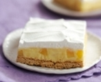 Cool and creamy pineapple squares