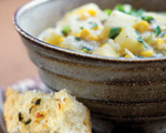Corn, Cheddar and Potato Soup 