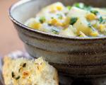 Corn, Cheddar and Potato Soup