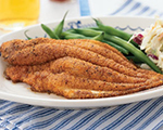 Cornmeal Crusted Cajun Catfish