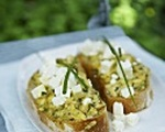 Goat Cheese Courgette Toast
