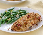 Cranberry-Orange-Stuffing-Crusted Chicken