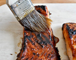 Crisp Salmon with Brown Sugar and Bourbon Glaze