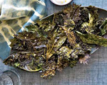 Crispy Kale with Greek Yogurt Dip