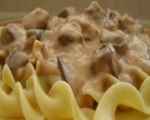 Favorite Beef Tips over Noodles