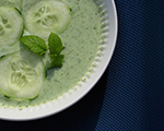 Cucumber and Lemon Soup with Fresh Mint