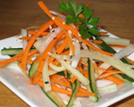 Cucumber, Daikon and Carrot Salad with Sake Sauce
