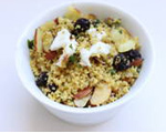 Dried Blueberry and Curry Couscous with Goat Cheese
