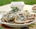 White wine and mushroom pasta