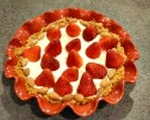 Sweet strawberry tart