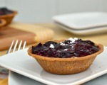 Mini black cherry cheesecakes