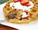 Whole grain cinnamon waffles