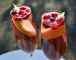 Fresh cranberry pear Bellini