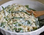 Gorgonzola linguine with sage &amp; green beans