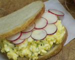 Egg Salad with Radishes
