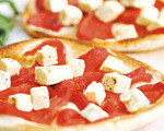 Feta and Roasted Red Pepper Pizza