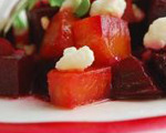 Feta, Baby Green and Roasted Beet Salad  