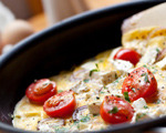 Feta Cheese, Tomato, Red Onion and Basil Omelet