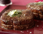 Filet Mignon with Caraway and Cilantro Butter