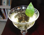 Fresh Basil, Lillet Blanc and Gin Cocktail