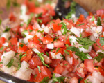 Fresh Coriander and Balsamic Salsa