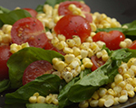 Fresh Corn, Arugula and Tomato Salad