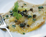 Fresh Flounder with Caper and Lemon Sauce
