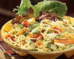 Fresh Veggie Pasta Salad with Mozzarella