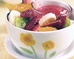 Fruit Cups with Berry Dressing