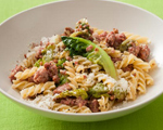 Fusilli Pasta with Italian Sausage and Romaine Lettuce