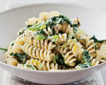 Fusilli with Creamed Leek and Spinach