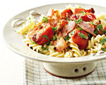 Fusilli with Tomato and Bacon