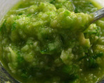 Garlic Scapes and Almond Pesto