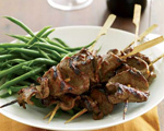 Glazed Grilled Beef Tenderloin Skewers  