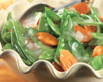 Glazed Snow Peas and Carrots