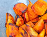 Slow Cooker Glazed Sweet Potatoes