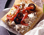 Greek Flat Bread Appetizers with Feta