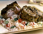 Greek Lamb Loin Chops with Couscous