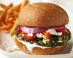 Greek Spinach Veggie Burgers