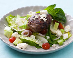 Greek-style Lamb Burgers with Oregano and Feta