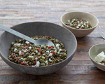 Green Lentil Salad with Cucumber