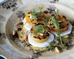 Grilled Apricots, Arugula and Goat Cheese