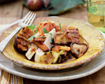 Grilled Chicken, Mushroom and Fig Salad